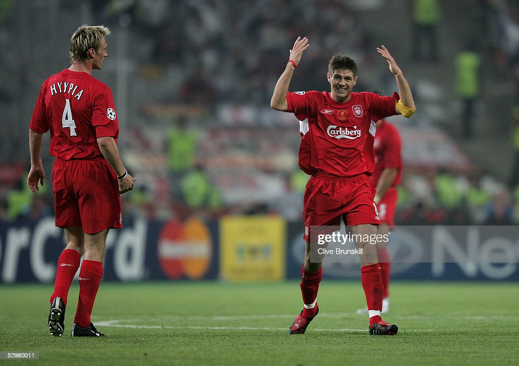 daf277b83 Liverpool captain Steven Gerrard celebrates his goal during the ...
