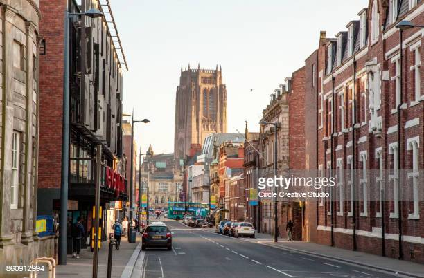 Liverpool Cathedral and Streets