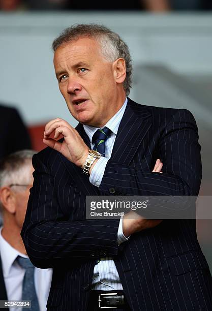 Liverpool Chief Executive Rick Parry during the Barclays Premier League match between Liverpool and Stoke City at Anfield on September 20 2008 in...