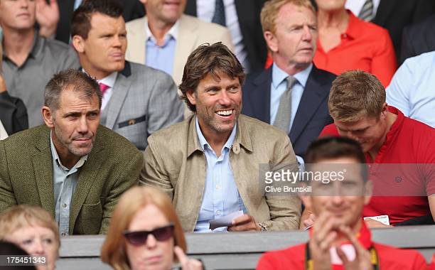Liverpool comedian John Bishop during the Steven Gerrard Testimonial Match between Liverpool and Olympiacos at Anfield on August 03 2013 in Liverpool...