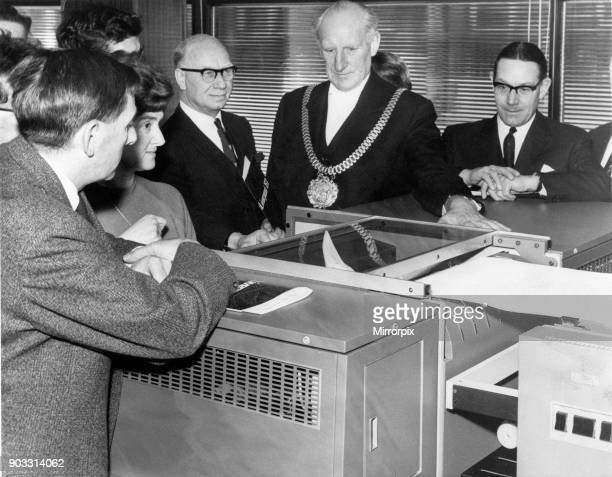 Liverpool Corporation's new assistant a three hundred thousand computer makes its debut when the Lord Mayor of Liverpool Alderman Herbert Allen put...