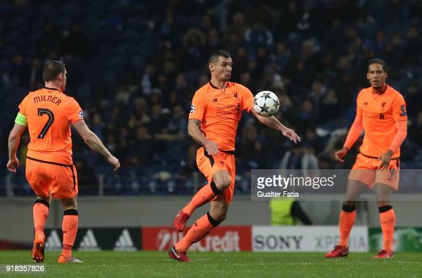 Liverpool defender Dejan Lovren from Croatia in action during the UEFA Champions League Round of 16 First Leg match between FC Porto and Liverpool FC...