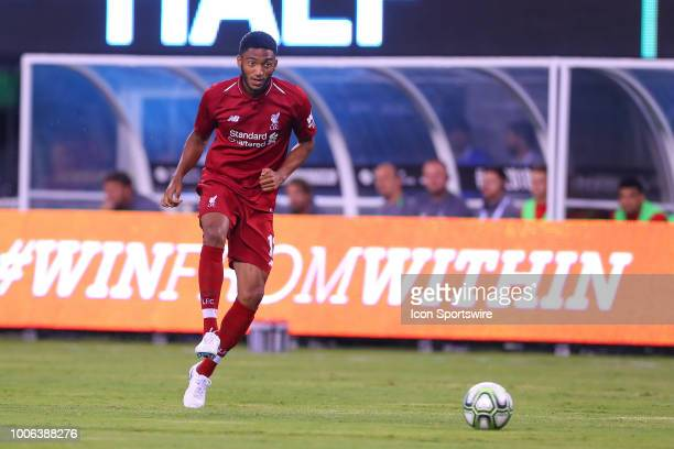 Liverpool defender Joe Gomez during the first half of the International Champions Cup Soccer game between Liverpool and Manchester City on July 25...
