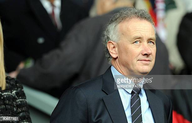 Liverpool director Rick Parry takes his seat before the Premier league football match between Liverpool and Blackburn Rovers at Anfield in Liverpool,...