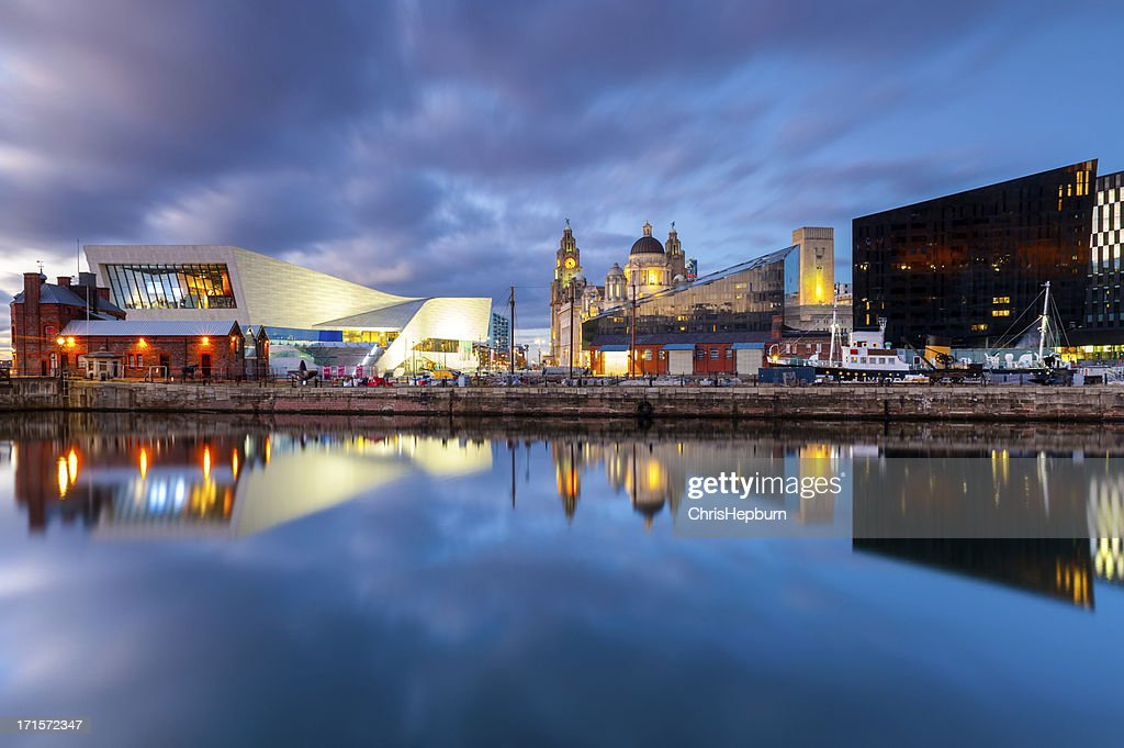 Liverpool Docks Waterfront : Stock Photo