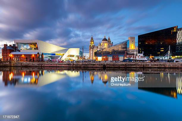 liverpool docks waterfront - merseyside stock pictures, royalty-free photos & images