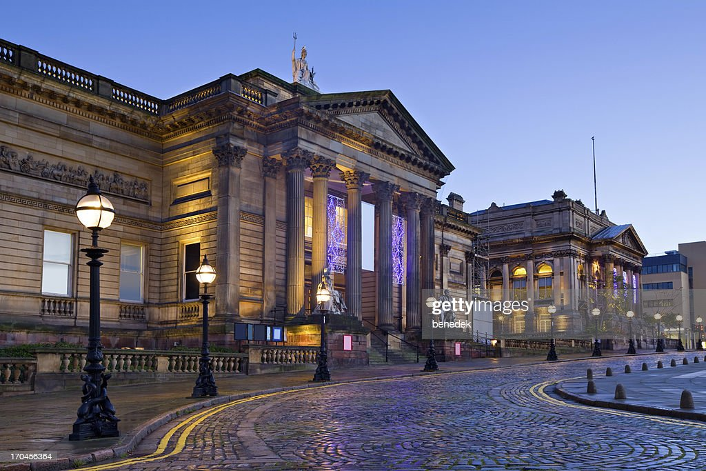 Liverpool England Downtown Cultural Quarter : Stock Photo