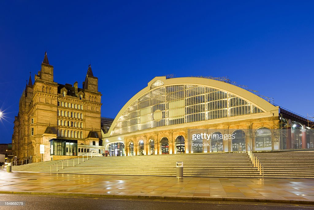 Liverpool England UK Downtown Lime Street Railway Station : Stock Photo