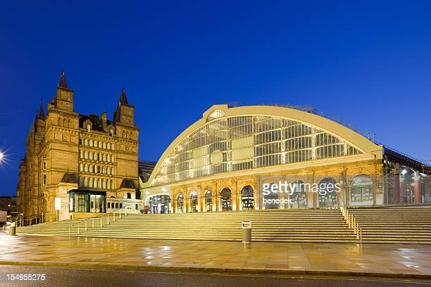liverpool england uk downtown lime street railway station - liverpool england stock photos and pictures
