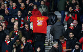 southampton england liverpool fan holds up