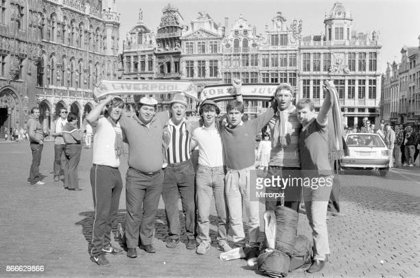 Liverpool Fans and Supporters leave for Brussels and 1985 European Cup Final v Juventus at Heysel Stadium Brussels Wednesday 29th May 1985 Morning of...