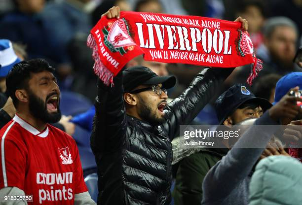 Liverpool fans during the UEFA Champions League Round of 16 First Leg match between FC Porto and Liverpool at Estadio do Dragao on February 14 2018...