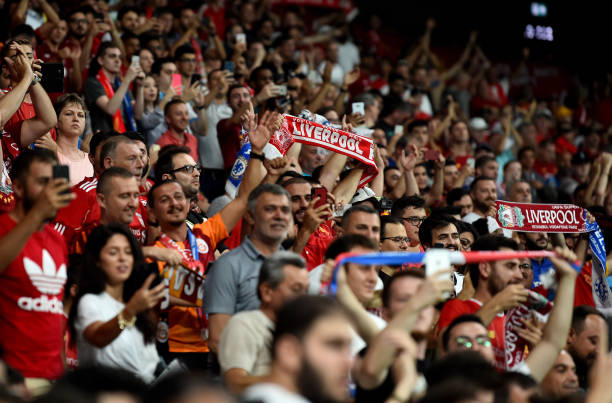 SUPER COUPE EUROPE UEFA 2019 Liverpool-fans-during-the-uefa-super-cup-match-between-liverpool-and-picture-id1168040910?k=6&m=1168040910&s=612x612&w=0&h=-RTSd_AXtpNjN9KVnkklY2uYv6JuzOQaOrbi3WWvHvU=