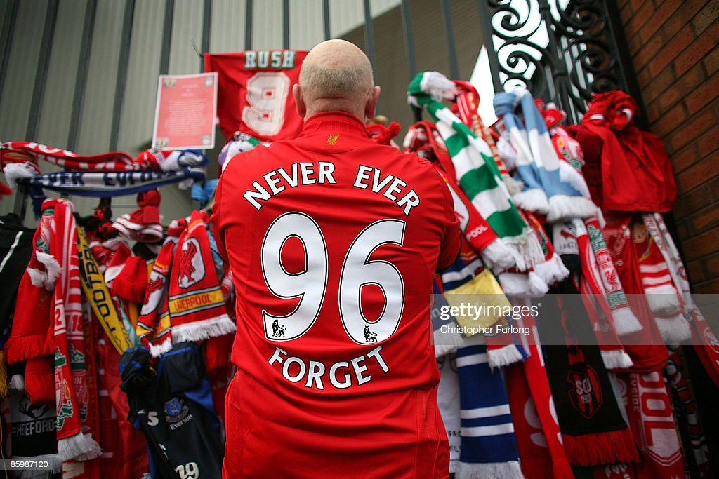 A Memorial Is Held For The 20th Anniversary Of The Hillsborough Tragedy : News Photo