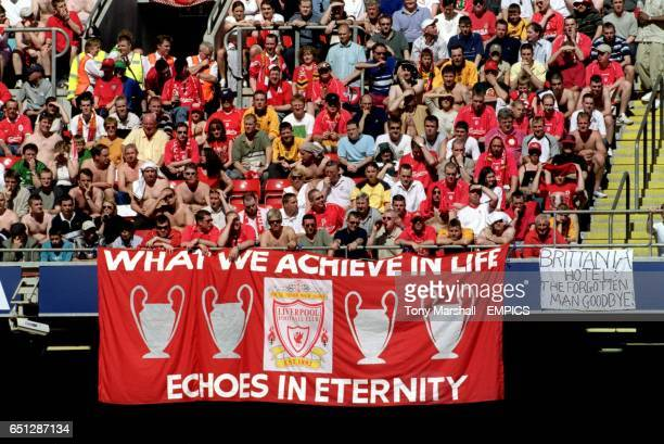 Liverpool fans with a poignant message