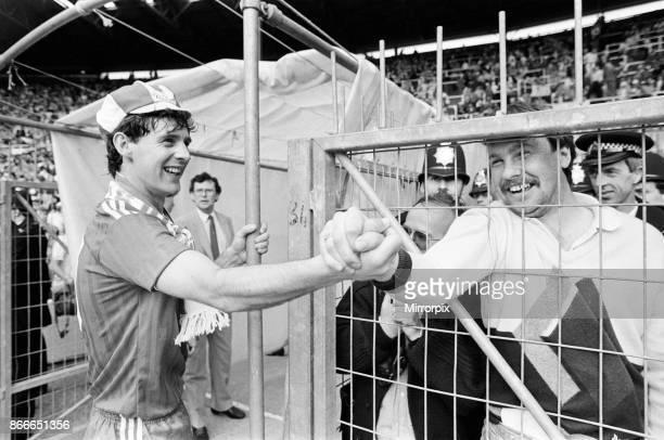Liverpool FC 31 Everton FC FA Cup Final 1986 Wembley Stadium Saturday 10th May 1986 Post Match Scenes Jim Beglin
