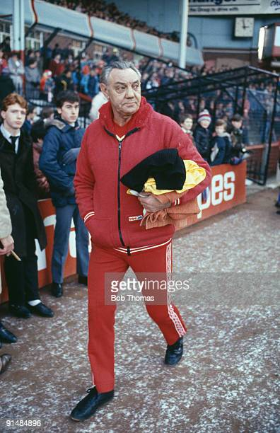 Liverpool FC assistant manager Joe Fagan during a LiverpoolAston Villa match at Villa Park 18th December 1982 Liverpool won 42
