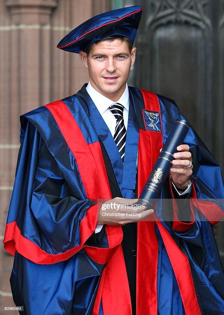Steven Gerrard Receives Honorary Degree : News Photo