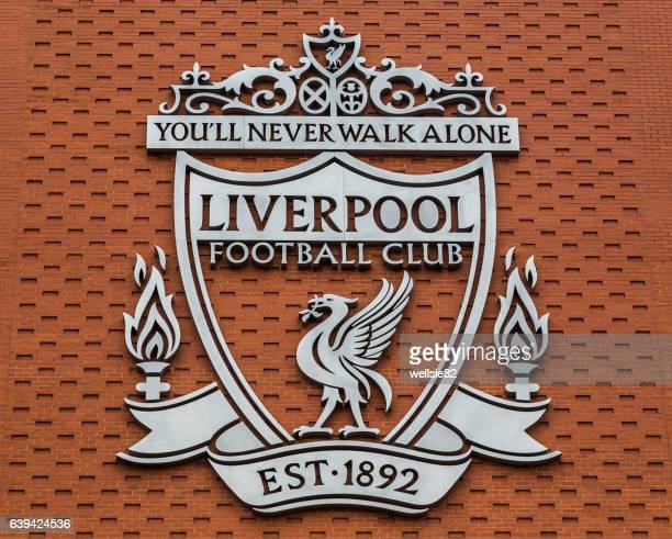 liverpool fc club crest - liverpool f.c. photos stock pictures, royalty-free photos & images