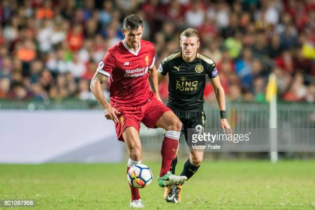 Liverpool FC defender Dejan Lovren in action during the Premier League Asia Trophy match between Liverpool FC and Leicester City FC at Hong Kong...
