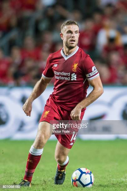 Liverpool FC defender Ragnar Klavan in action during the Premier League Asia Trophy match between Liverpool FC and Leicester City FC at Hong Kong...