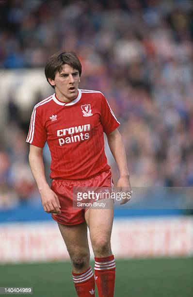 Liverpool FC footballer Peter Beardsley during the FA Cup semifinal against Nottingham Forest at Hillsborough Sheffield April 1988 Liverpool won 21