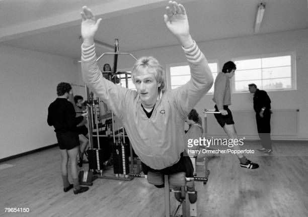 10th July 1975 Liverpool footballer Phil Thompson back in training on the first day back after the preseason break