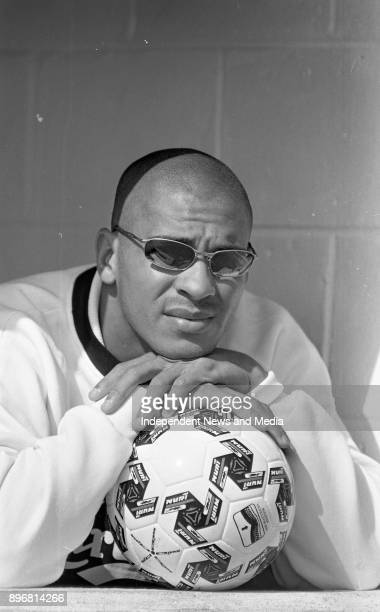 Liverpool FC Footballer Stan Collymore before the match against Dundalk FC in Oriel Park Dundalk Louth