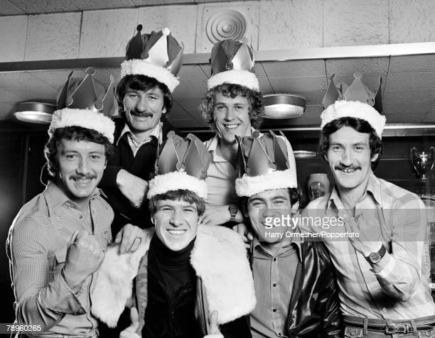 Liverpool players, Jimmy Case, Tommy Smith, Emlyn Hughes,Phil Neal, Ray Kennedy and Terry McDermott, show just why they are the kings of Europe by...