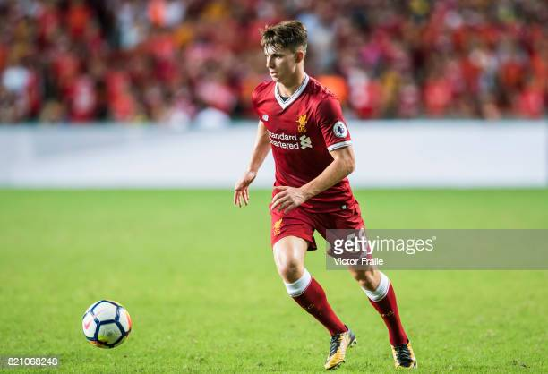 Liverpool FC forward Ben Woodburn in action during the Premier League Asia Trophy match between Liverpool FC and Leicester City FC at Hong Kong...