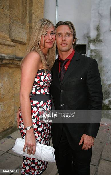 Liverpool FC goalkeeper Jose Reina gets married Cordoba Spain Picture shows fellow footballer Zenden and wife 19th May 2006