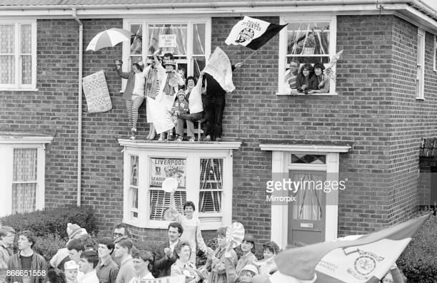 Liverpool FC, Homecoming Victory Parade after winning the FA Cup, and completing a League and Cup double, Sunday 11th May 1986.