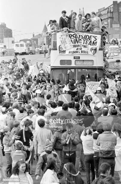 Liverpool FC Homecoming Victory Parade after winning the FA Cup and completing a League and Cup double Sunday 11th May 1986