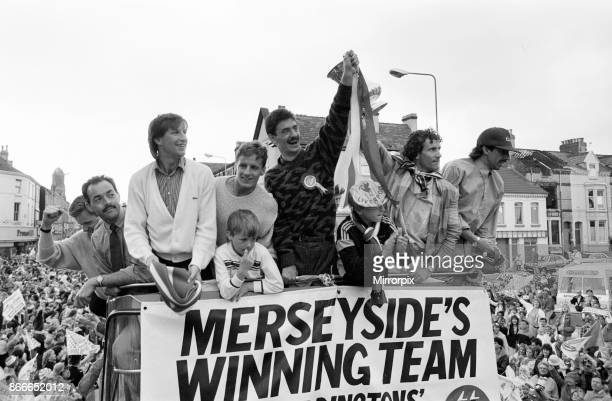 Liverpool FC Homecoming Victory Parade after winning the FA Cup and completing a League and Cup double Sunday 11th May 1986 Bruce Grobbelaar Ian Rush...