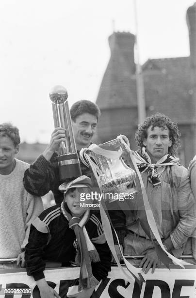 Liverpool FC Homecoming Victory Parade after winning the FA Cup and completing a League and Cup double Sunday 11th May 1986 Ian Rush Craig Johnston