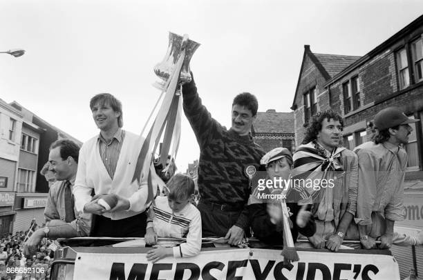 Liverpool FC Homecoming Victory Parade after winning the FA Cup and completing a League and Cup double Sunday 11th May 1986 Ian Rush