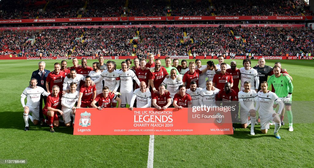 of Liverpool FC Legends v AC Milan Glorie - Friendly : Nachrichtenfoto