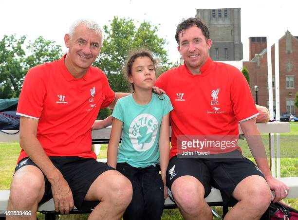 Liverpool FC Legends Robbie Fowler and Ian Rush visit Perkins School for the Blind on July 22 2014 in Boston Massachusetts