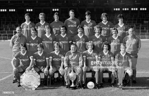 1979 Liverpool FC Photocall The Liverpool football team pose for a photograph Back Row LR Avi Cohen Phil Neal Ray Clemence Steve Ogrizovic Alan...