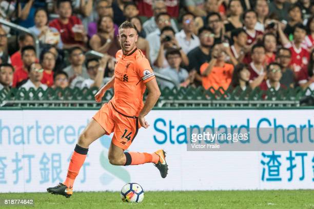 Liverpool FC midfielder Jordan Henderson in action during the Premier League Asia Trophy match between Liverpool FC and Crystal Palace at Hong Kong...