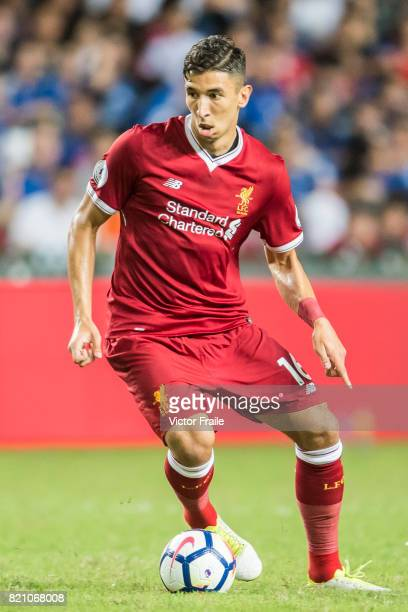 Liverpool FC midfielder Marko Grujic in action during the Premier League Asia Trophy match between Liverpool FC and Leicester City FC at Hong Kong...