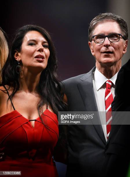 Liverpool FC owner John W Henry and wife Linda Pizzuti Henry are seen after the UEFA Champions League Final 2019 match between Tottenham Hotspur and...