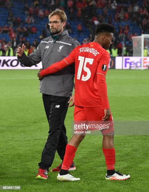 FUSSBALL UEFA FC Liverpool FC Sevilla Juergen Klopp und Daniel Sturridge sind nach dem Abpfiff enttaeuscht