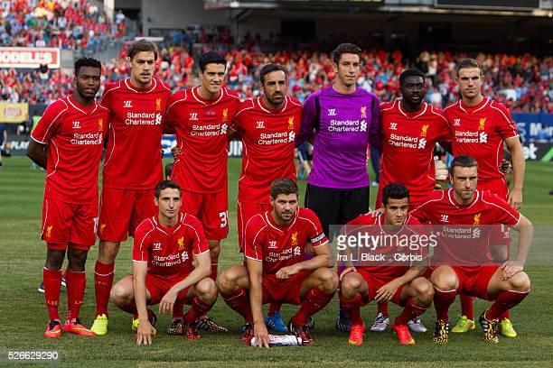 Liverpool FC starting line up includes Captain Steven Gerrard , Goalkeeper Brad Jones , Philippe Coutinho , Daniel Sturridge , Kolo Toure , Jose...