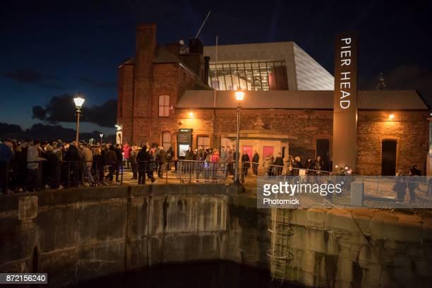 Liverpool fireworks bonfire night 2017 at the Pier Head