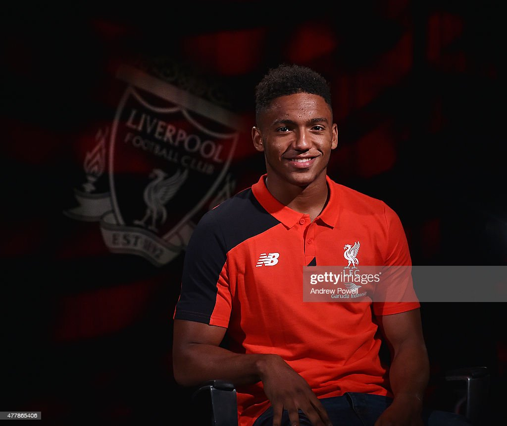 Liverpool Football Club's new signing Joe Gomez poses for a photograph following his transfer on June 20, 2015 in Liverpool, England.