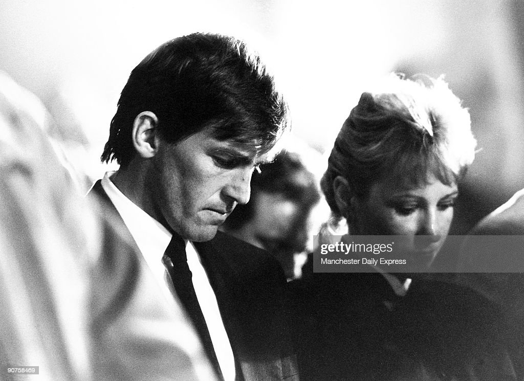 Kenny Dalglish at memorial service, April 1989. : News Photo