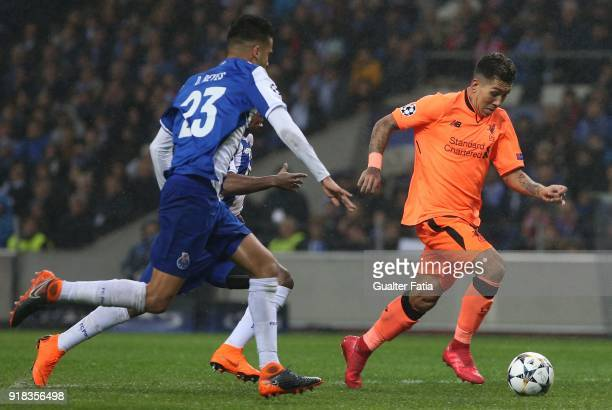 Liverpool forward Roberto Firmino from Brazil in action during the UEFA Champions League Round of 16 First Leg match between FC Porto and Liverpool...