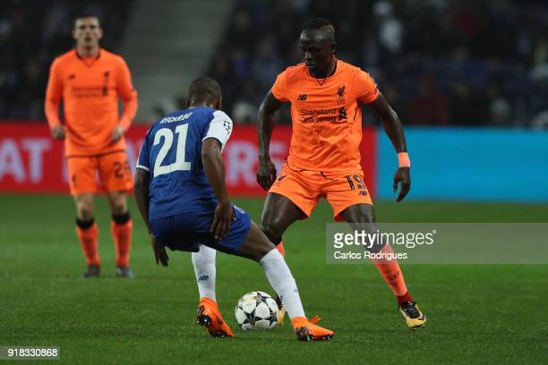 Liverpool forward Sadio Mane from Senegal vies with FC Porto defender Ricardo Pereira from Portugal for the ball possession during the UEFA Champions...