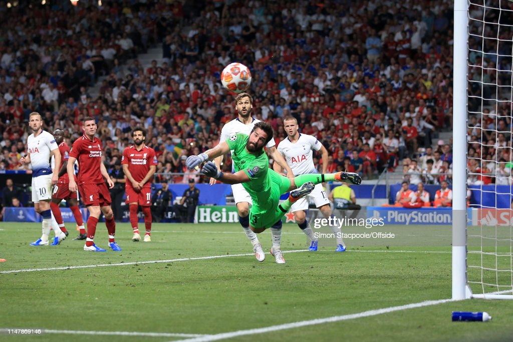 Alisson Becker saves Champions League Final